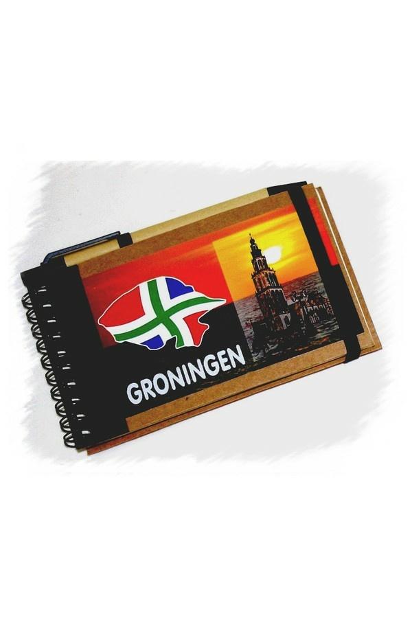 Groninger notitieboekje en pen