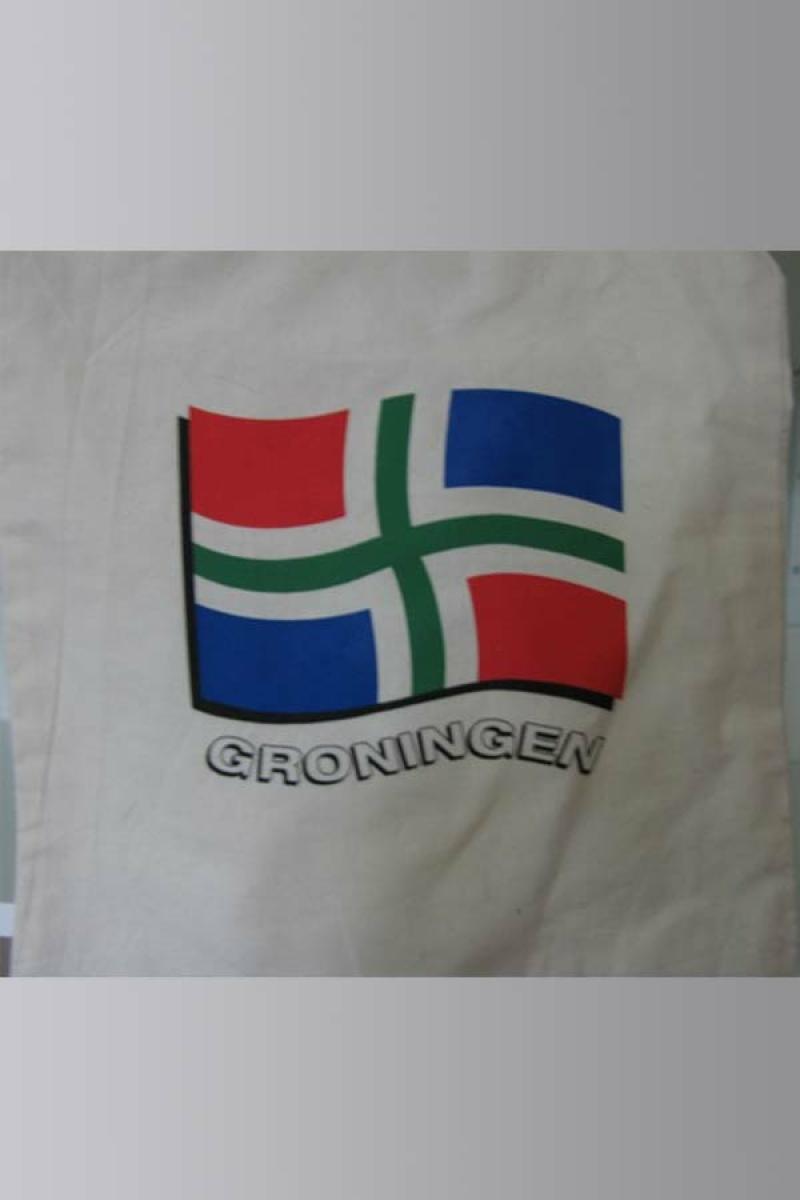 Draagtas katoen Groninger vlag