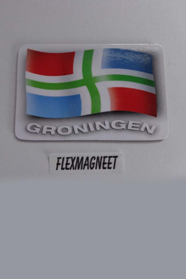 Flex magneet met groninger vlag
