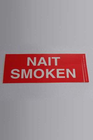 Sticker Nait Smoken Gronings