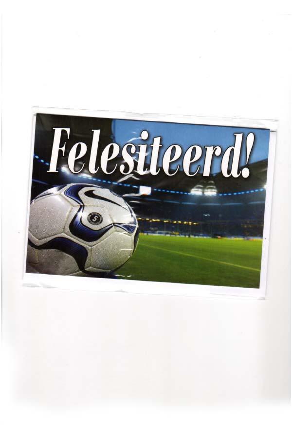 gefeliciteerd gronings Wenskaart Felesiteerd! Voetbal   Groninger Artikelen gefeliciteerd gronings