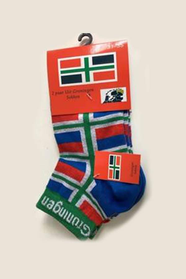 Groninger sokken met kleine vlaggetjes