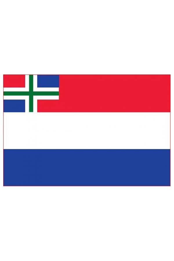 Vlag Nederland met inzet Groninger vlag