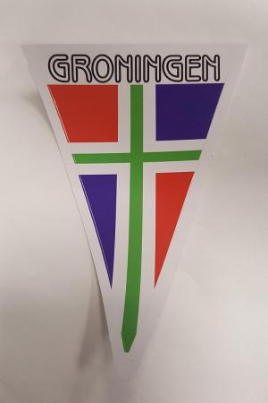 Sticker puntvlag Groningen