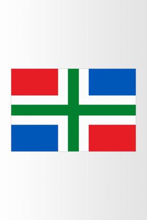 Sticker Groningse vlag 40x30 cm
