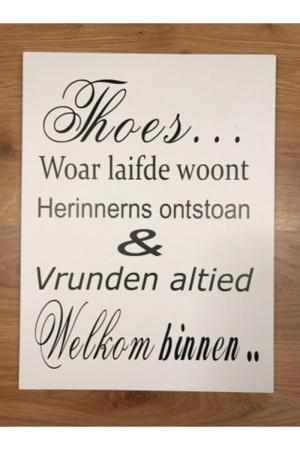 Groninger tekstbord: Thoes...