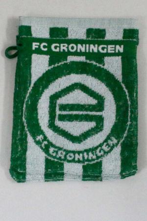 FC Groningen washandje gestreept logo