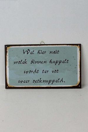 Tekstbord Groningen binnen huppelt