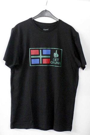 T-shirt zwart met Groninger vlag