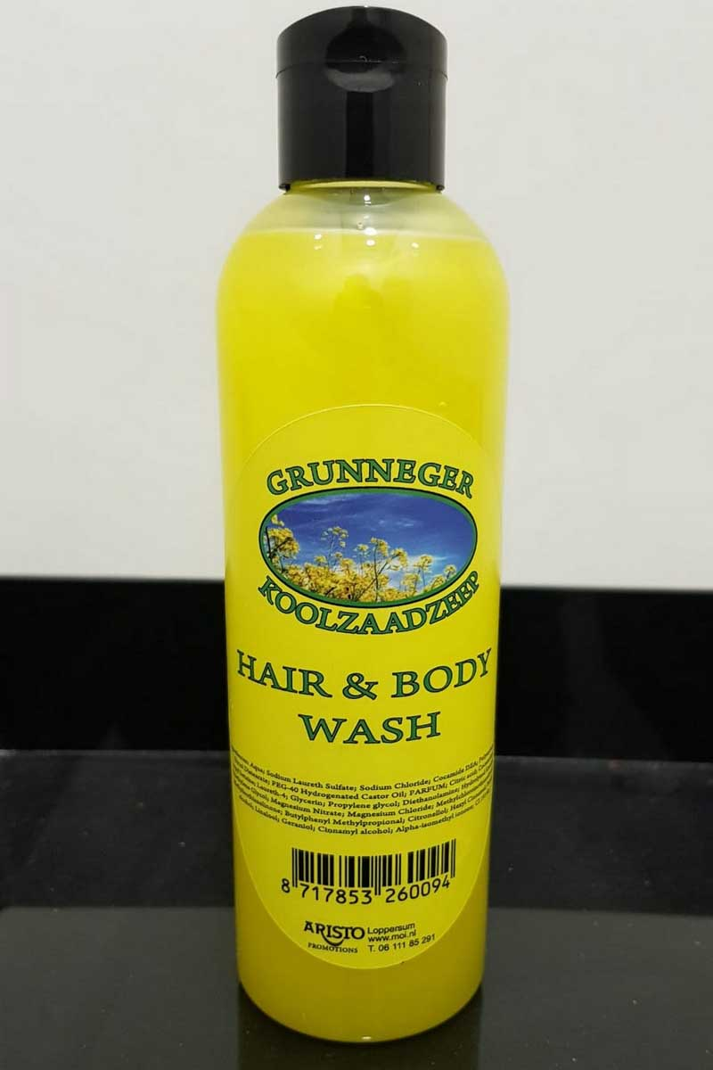 Grunneger koolzaadzeep hair & body wash
