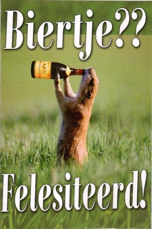 Wenskaart Biertje?? Felesiteerd!