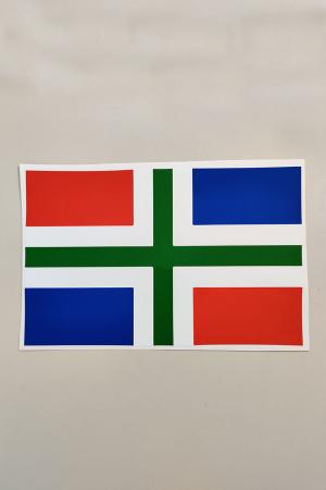 Sticker Groningen 20x30 cm.