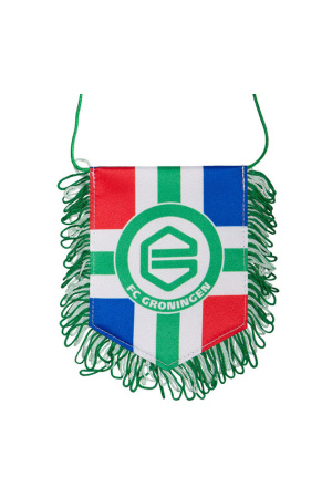 Banier provincievlag FC Groningen vaantje